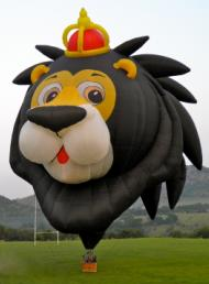 lion hot air balloon